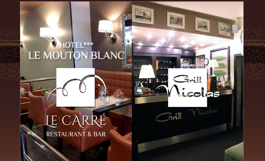 H tel le mouton blanc restaurant bar le carr - Carre blanc lille ...